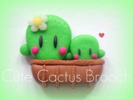Cute Cactus Brooch by ApoAddicted
