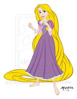 Commission: Rapunzel Flat Color by rickymanson