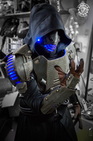 Hex Omega - RGB LED light cyberpunk armor by TwoHornsUnited