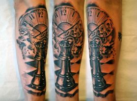 Chess tattoo abstract by gettattoo