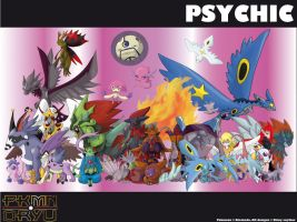 Oryu wall: psychic type by shinyscyther
