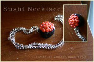 Sushi Necklace by aunjuli