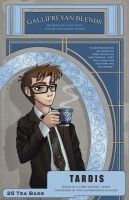 TARDIS Tea Label by AlexisRoyce
