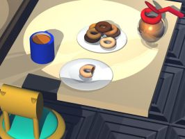 Donut Shop by SN2