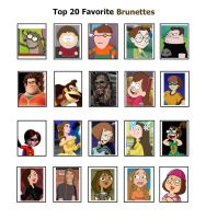 My Top 20 Favorite Brunettes by SithVampireMaster27