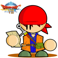 Dragon Quest VIII - Hero by cabal-art