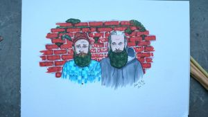 Illustration inspired by The Gay Beards by SofiaAR