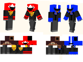 Protomen Minecraft skins by gidrod