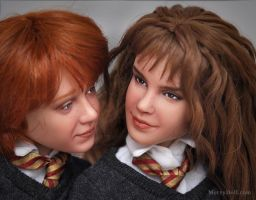 Ron and Hermione repaints by mary-vassilieva