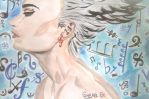 Feel the music~ (watercolours) by GemaG