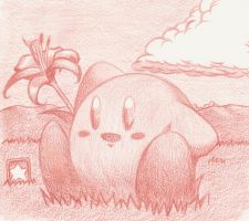 Kirby's relax and Lily by MilkywayKing