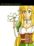 Leafa from SAO 2 version 2 (warmer colors) by SooCatArt