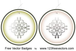 Free Vector Badges by 123freevectors