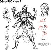 Archangel - Aspect of Destruction Sketch by BLITZFenix
