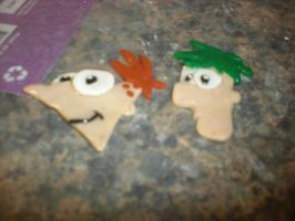 Phineas and Ferb Earrings by AquaNature10