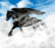 Friesian Pegasus by WSTopDeck