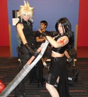 Cloud and Tifa cosplay by Shiroyuki9