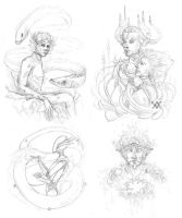 sketchdump I by Cnids