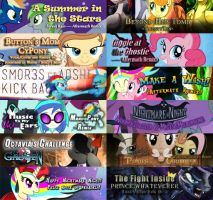 12 of 12 Banners for Ponymania Halloween by Calenita