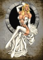 Emma Frost - coloured by adriannauk