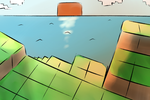 Minecraft. Looking over the Horizon by Cain-Draws