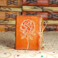 Burnt Rose Journal by gildbookbinders