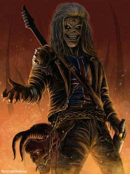 Eddie (Iron Maiden) by RomanDubina