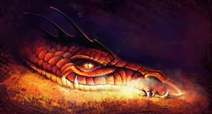 Smaug the Dragon by masterHalfling