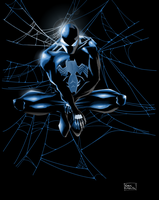 Black Spider-man by DemonX01