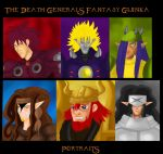The Death Generals Fantasy Gijinka portraits by Danitheangeldevil
