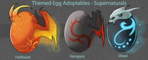 Egg Adoptable Themed Round - Supernaturals (GONE!) by Ulario