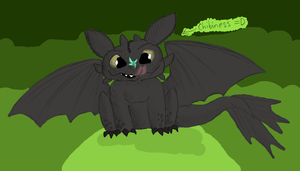 OMG Toothless Chibi-style by Ilovedragons1