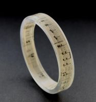 Sheet music bangle by BazaarHereToday