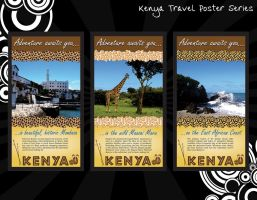 Kenya Travel Posters by rikku813