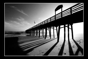 Hard Lines at Flagler Pier by jaharris1701