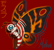 Mothra by TheRaspberryFox