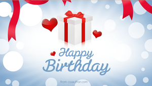 Printable Birthday Cards PSD - cssauthor.com by cssauthor
