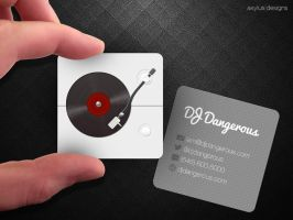 Square Turntable DJ Business Card by axylus