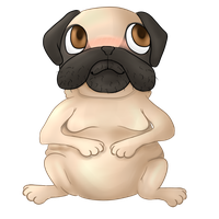 Chubby pug ^W^ [[COMM]] by Civah