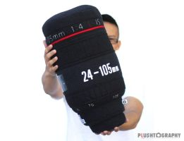 Canon 24-105mm Lens Pillow by iliketodoodle