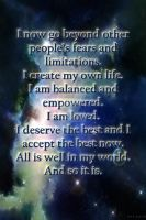 Affirmation 3 Variation 4 by TrishRDesigns