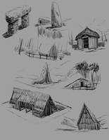 neolithic sketches 2 by yezzzsir