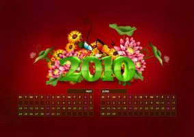 2010 Calendar Design. by vivrocks
