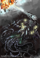 Ancillibatus, World Destroyer by LeccathuFurvicael
