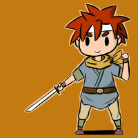 Chrono the Time Traveling Swordsman Guy Dude by WaywardDoodles
