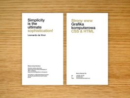 New business card - helvetica by bisek0