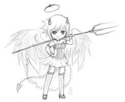 chibi sketch - Aki by z3lyn