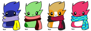 Scarf blob adopts! ::CLOSED:: by Tori-Adopts