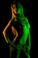 Tati in colored light by goodeggproductions