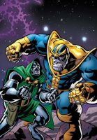 Doctor Doom VS Thanos by ANSEM3